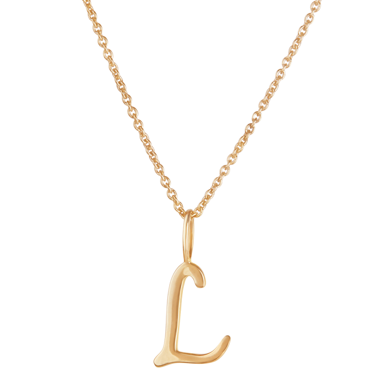 Initial Necklace 9k Gold