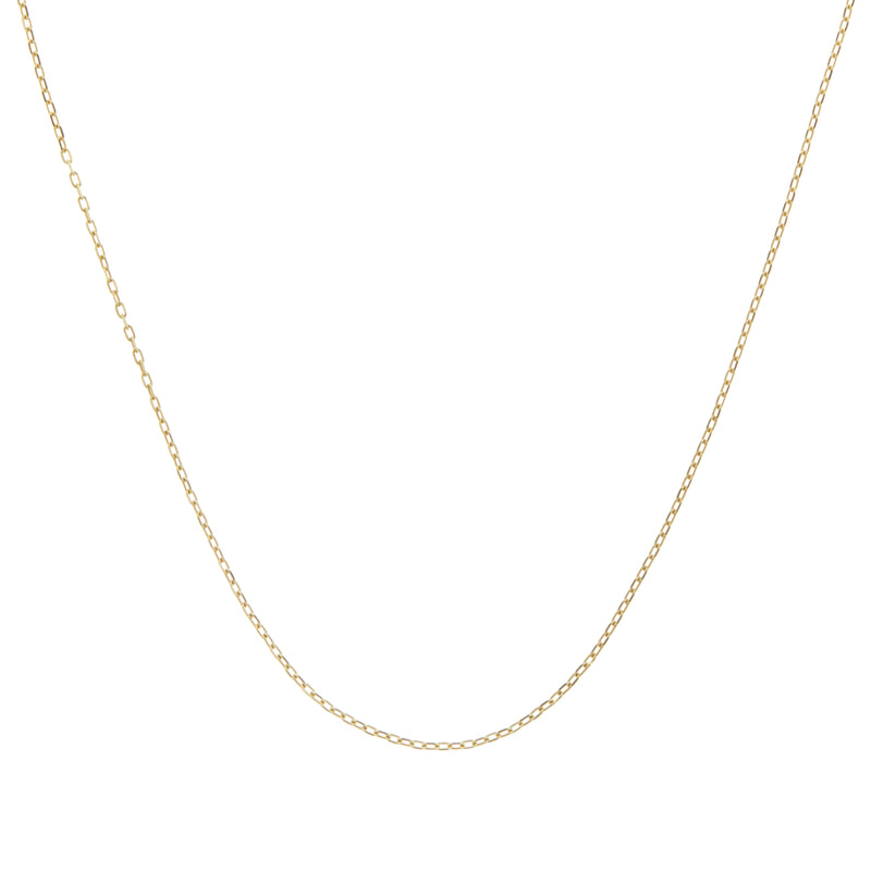 "18"" Square Diamond Cut Belcher Chain 9k Gold"