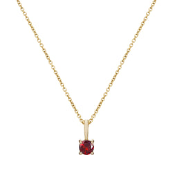 Mini Garnet Pendant 9k Gold