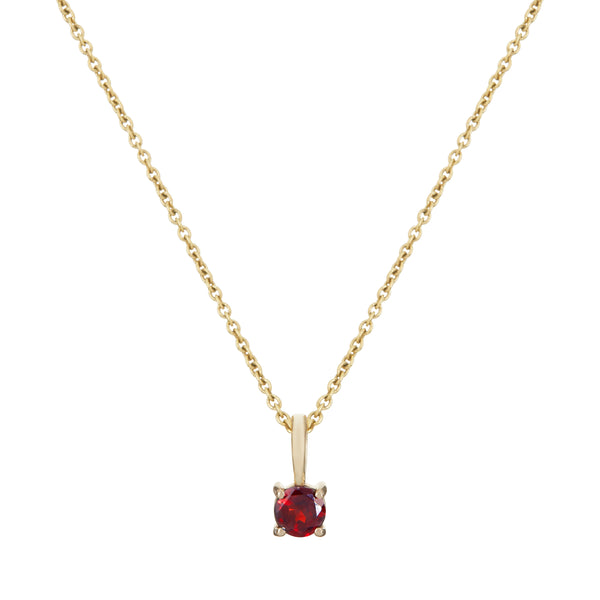 Mini Garnet Necklace 9k Gold