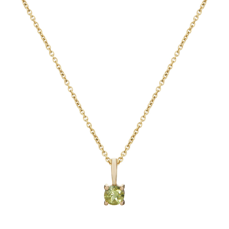 Mini Peridot Pendant 9k Gold
