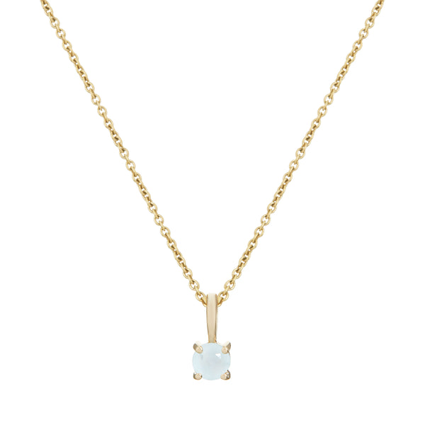 Mini Aquamarine Necklace 9k Gold