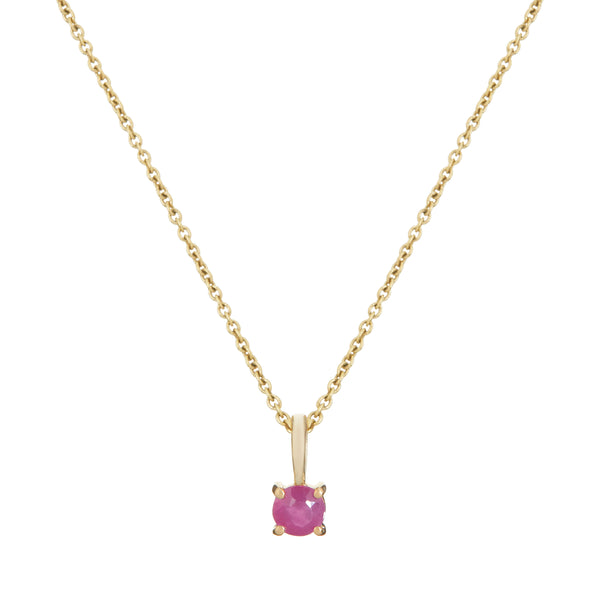 Mini Ruby Necklace 9k Gold