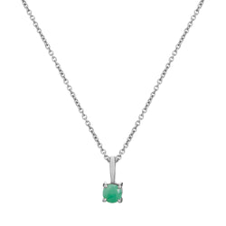 Mini Emerald Pendant Sterling Silver
