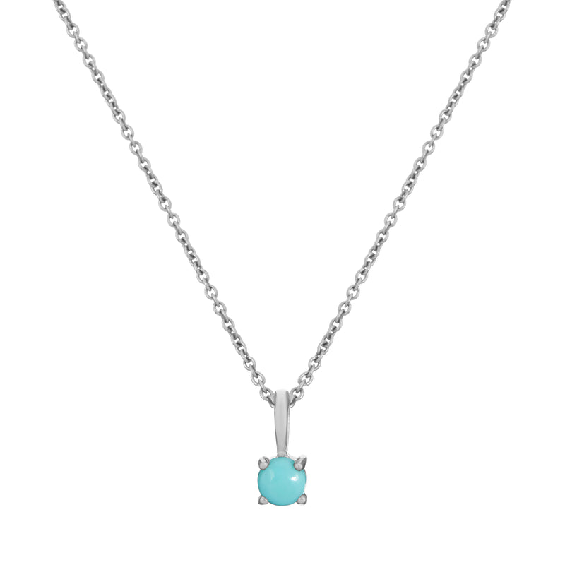 Mini Turquoise Necklace Sterling Silver