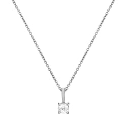 Mini White Topaz Necklace Sterling Silver