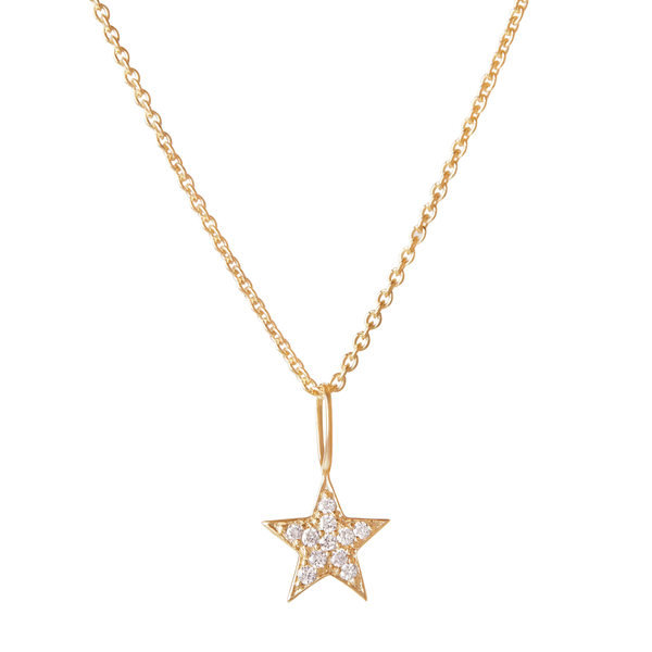 Celestial Diamond Star Pendant 9k Gold