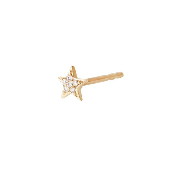 Celestial Diamond Star Stud 9k Gold