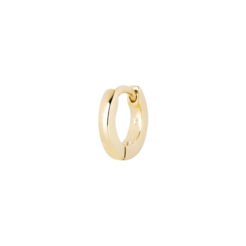 Teeny Wide Huggie Hoop Earring 9k Gold