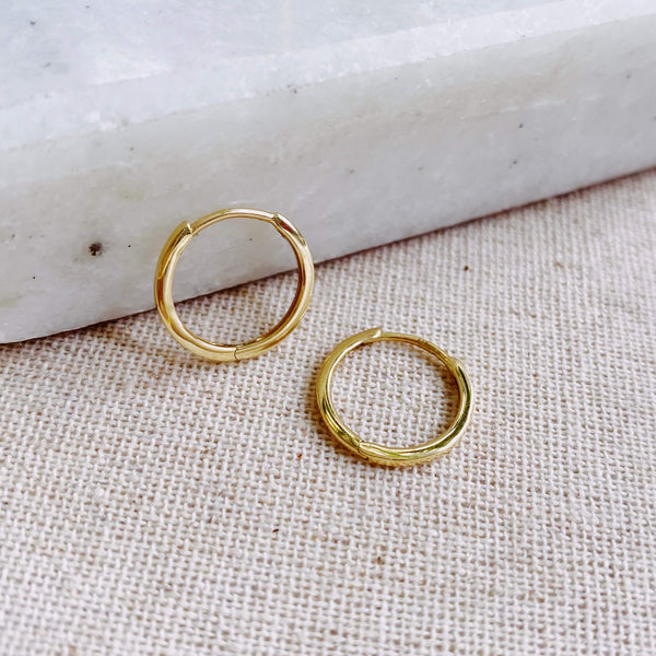Medium Hoop Earring 9K Gold