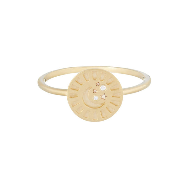 Celestial Diamond Coin Ring 9k Gold