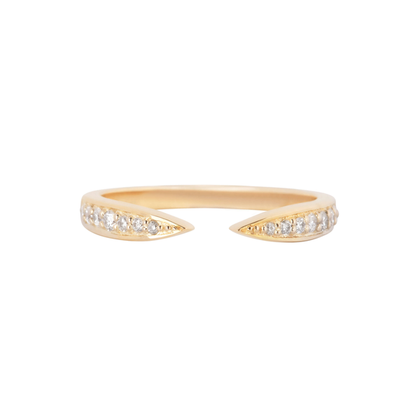 Diamond Open Ring 9k Gold