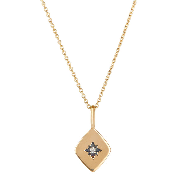 Diamond Star Necklace 9k Gold