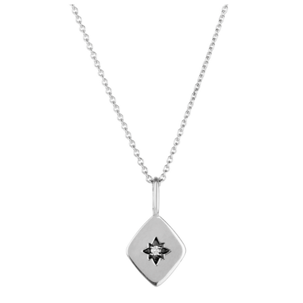 Diamond Star Necklace Sterling Silver
