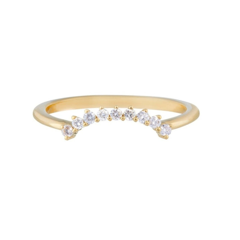 Grey Diamond Hugging Ring 9k Gold