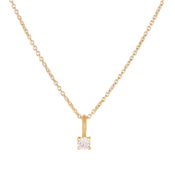 Mini Diamond Necklace 9k Gold