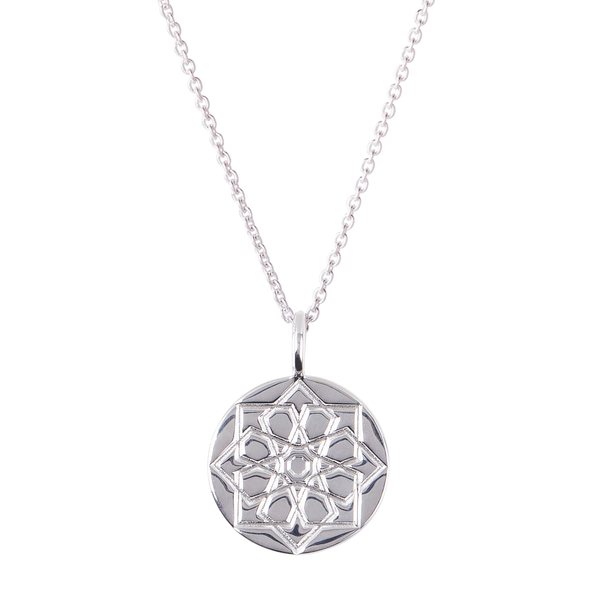 Zohreh Coin Necklace Sterling Silver