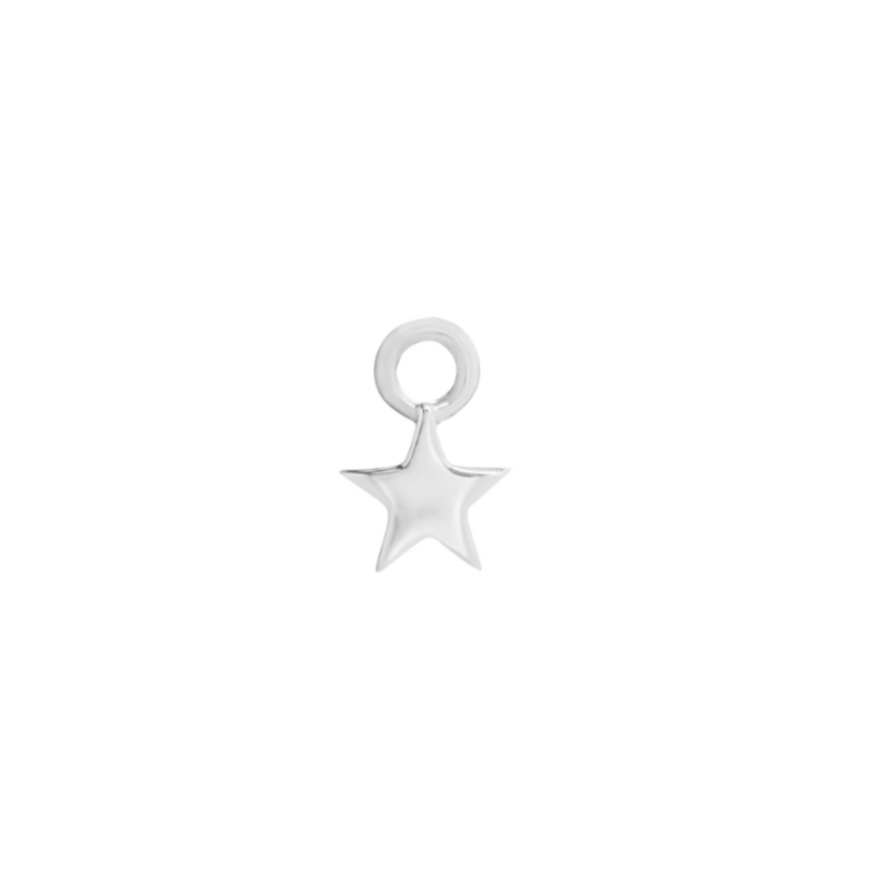 Star Earring Charm Sterling Silver