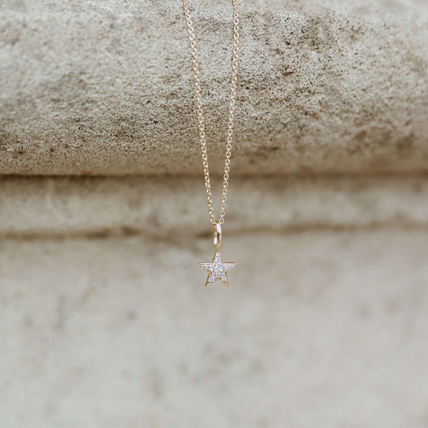 Celestial Diamond Star Necklace 9k Gold