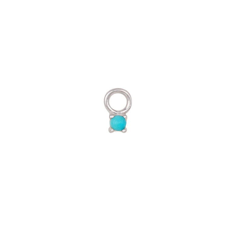 Turquoise Earring Charm Sterling Silver