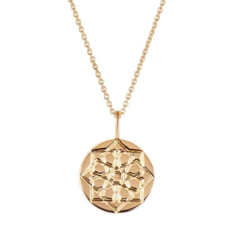 Zohreh Coin Necklace 9k Gold