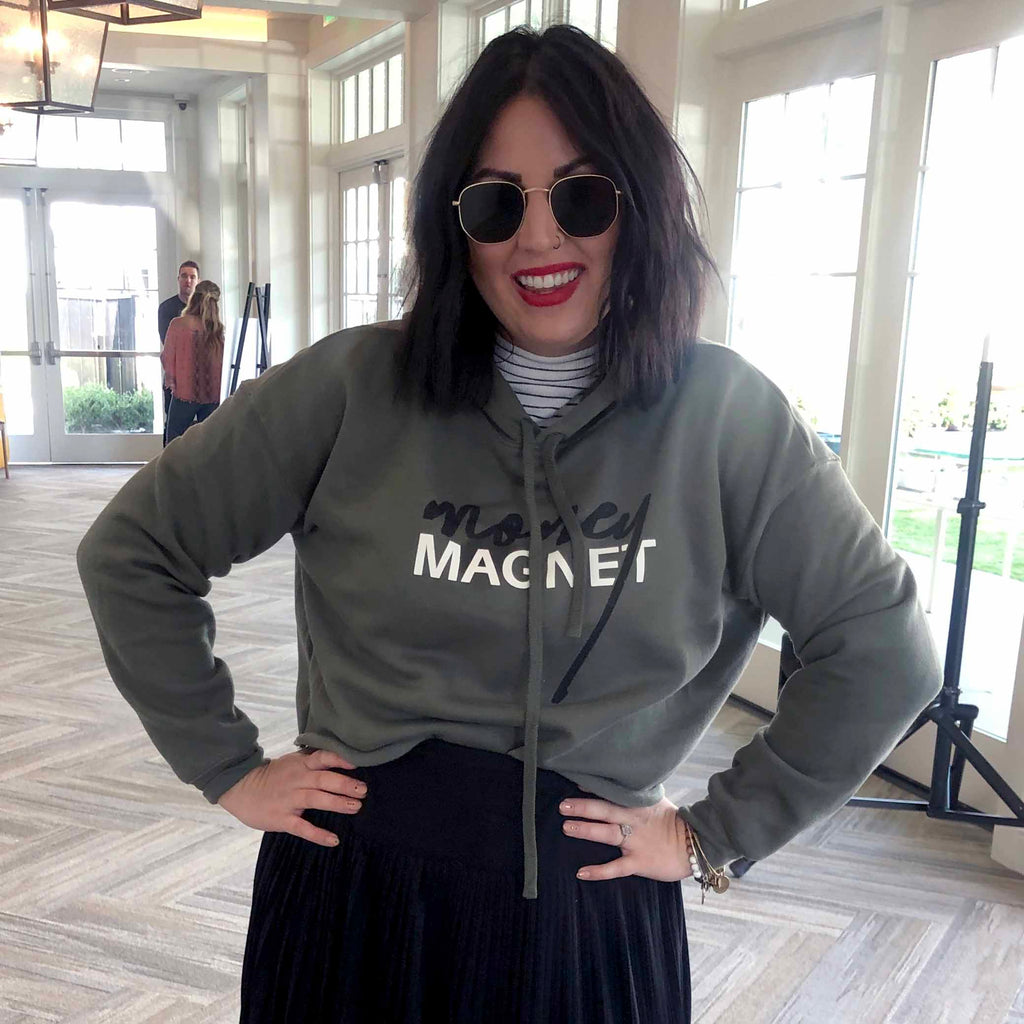 Money Magnet Cropped Sweater