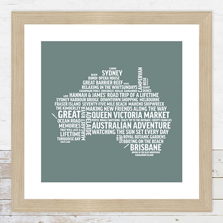 Framed Print Word Art