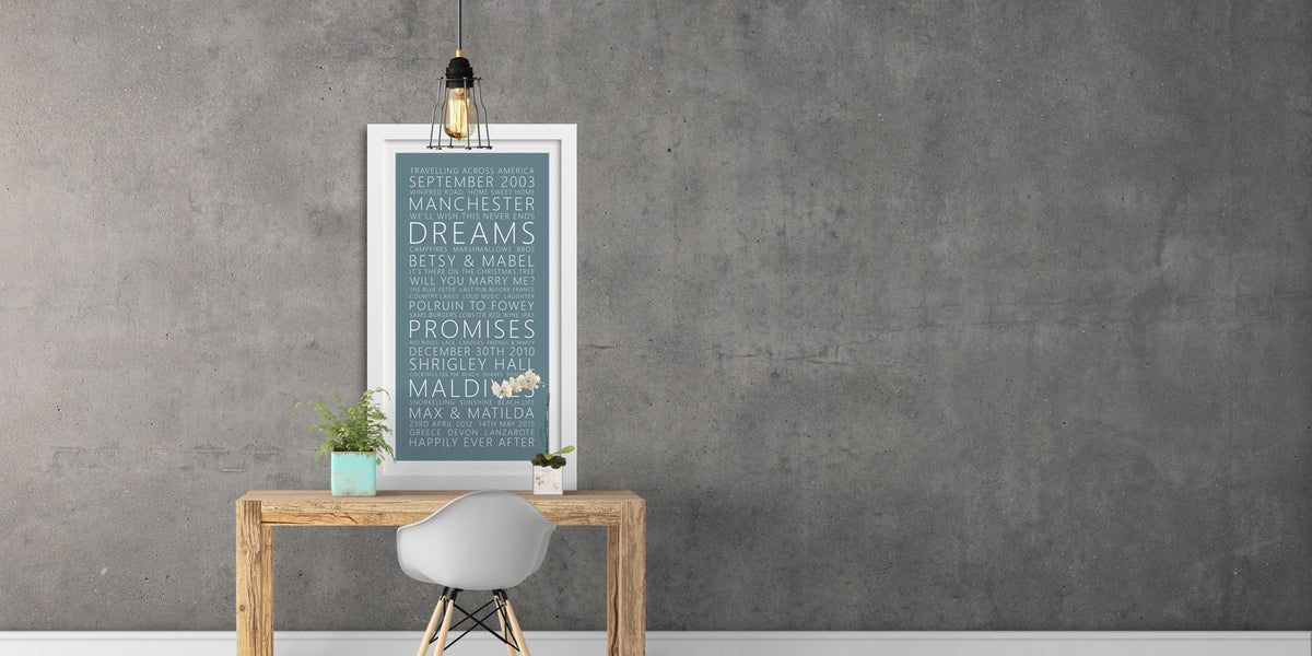 Framed Typographic Word Art Print