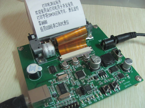 STM32 development board thermal printer - send source code - Schematics -  serial download font