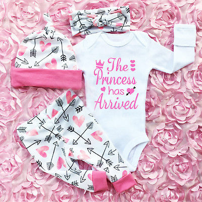 Infant Newborn Baby Girls Clothes Set