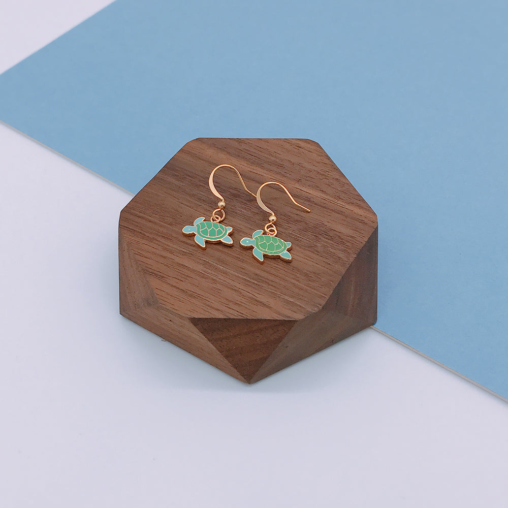 Sea Turtle Enamel Stud Earrings