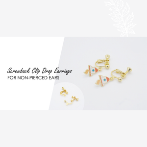 Rainbow Heart Enamel Stud Earrings