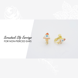 Mt. Fuji Sunrise Enamel Earrings/ Bracelet/ Necklace
