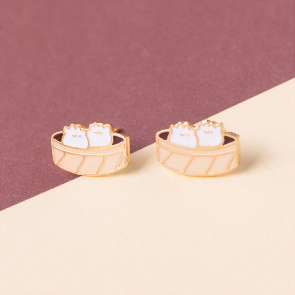 Soup Dumplings Enamel Stud Earrings/ Bracelet/ Necklace