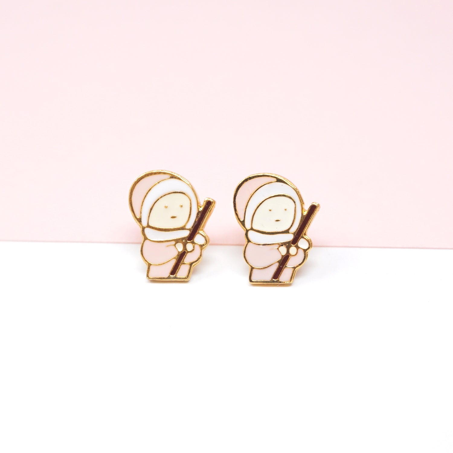 NEW! Li'l Fishman Enamel Stud Earrings