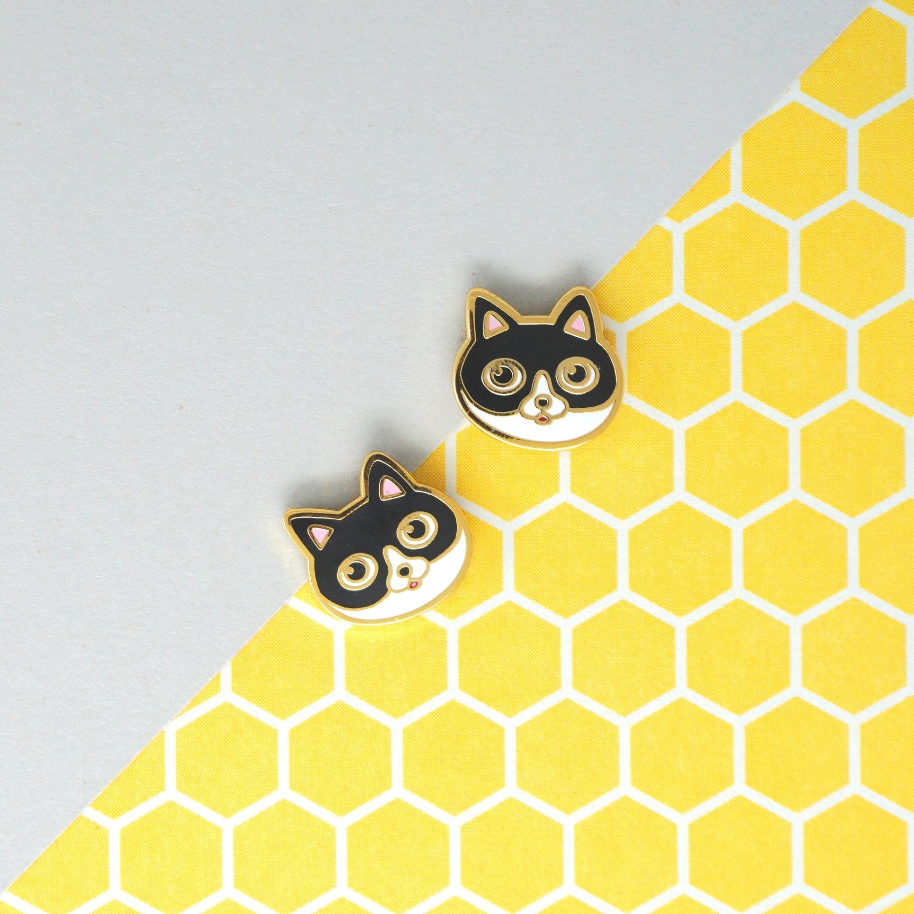 Miss Modi presents Handcrafted Batwoman Cat Enamel Stud Earrings