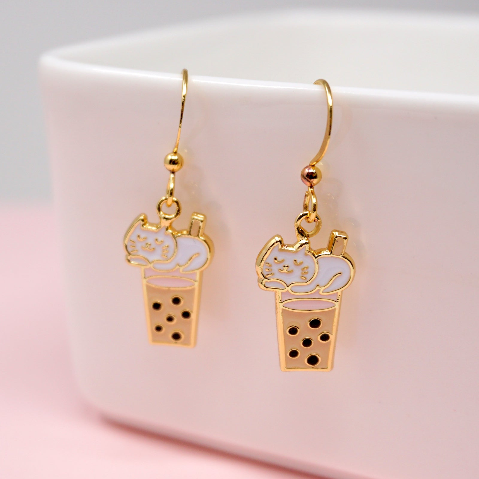 Boba Kitty Enamel Earrings/ Bracelet/ Necklace