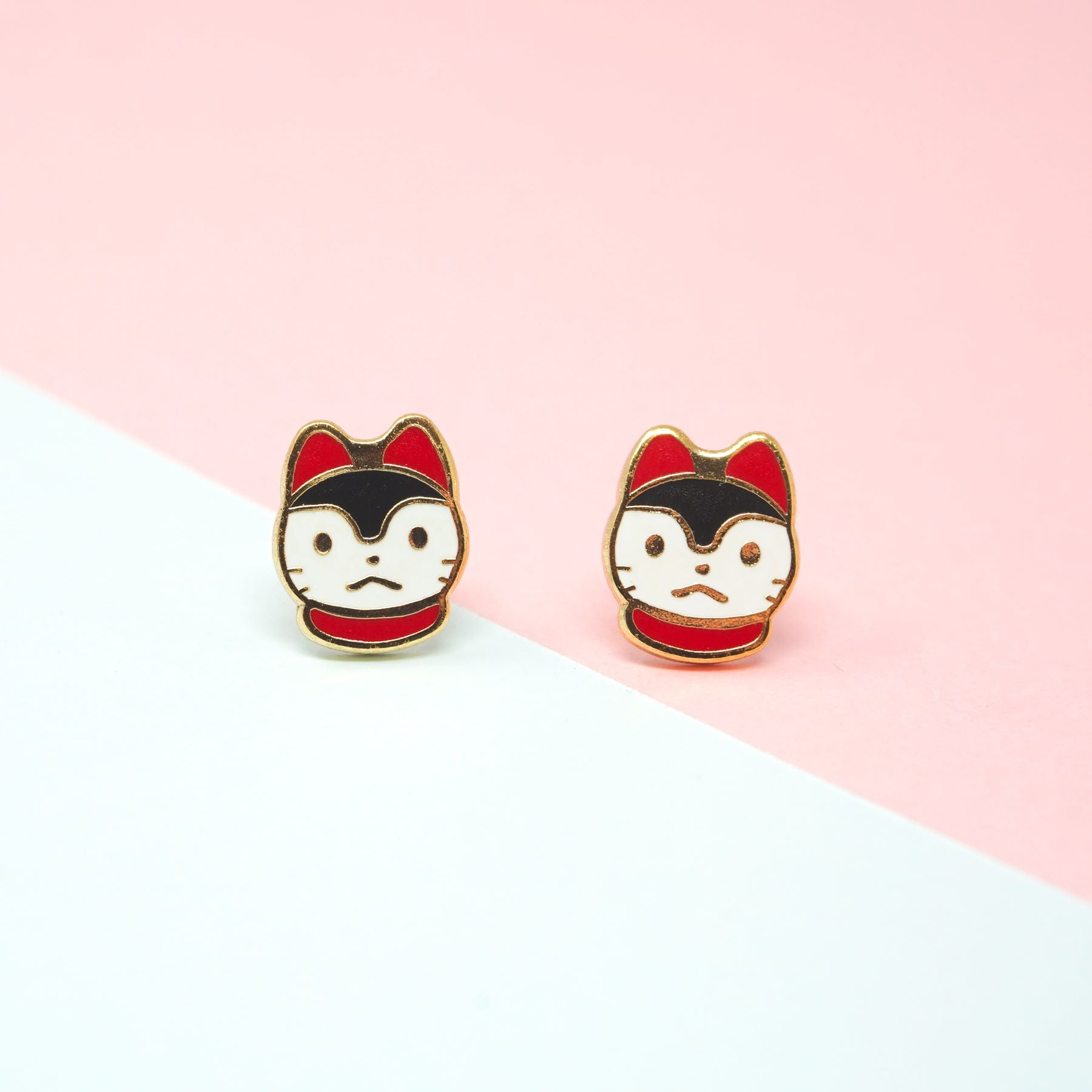 Miss Modi presents Handcrafted Inu Hariko Enamel Stud Earrings