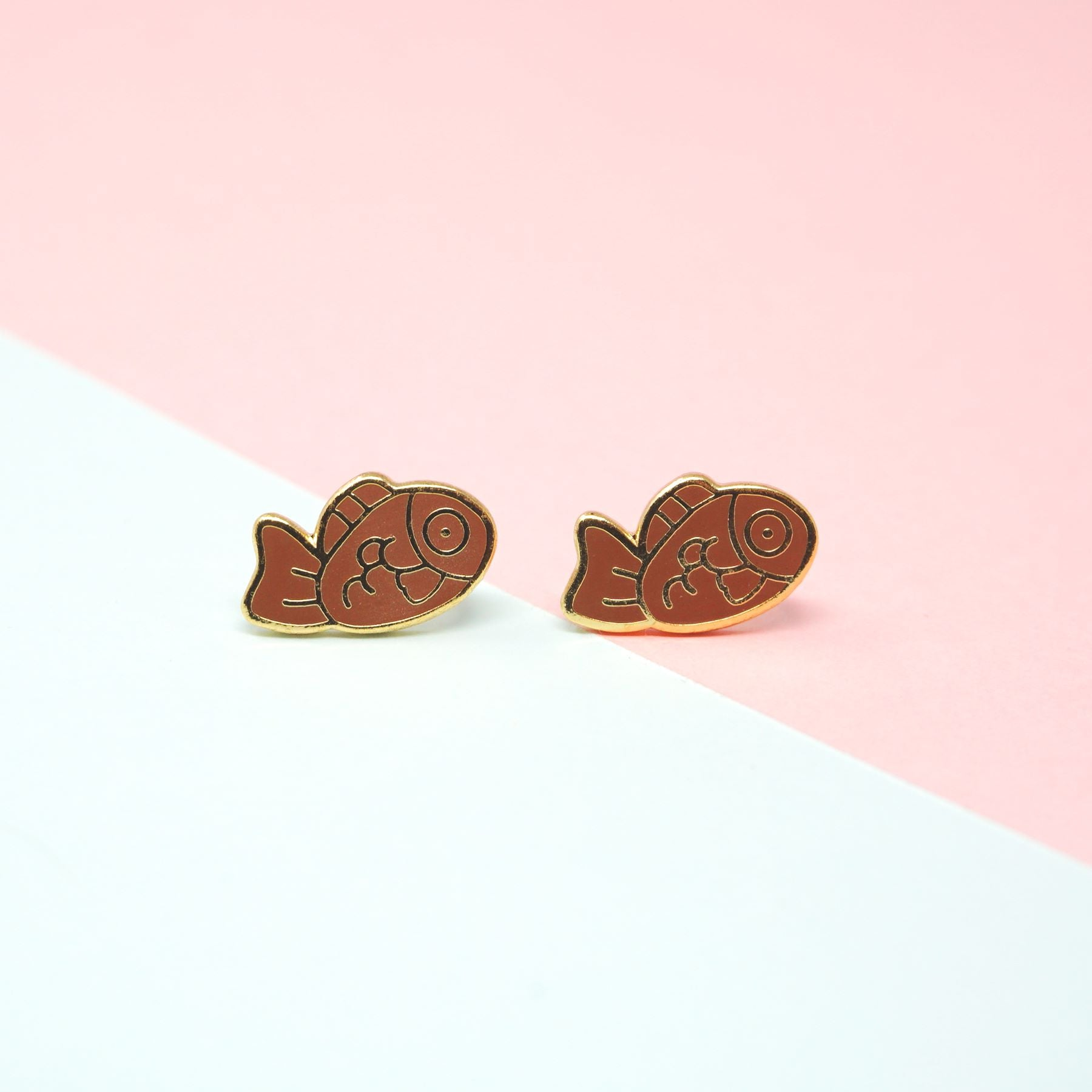 Miss Modi presents Handcrafted Taiyaki Enamel Stud Earrings