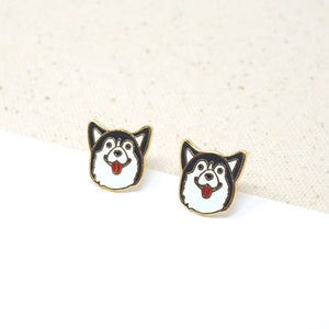 Miss Modi presents Little OH! Husky Enamel Stud Earrings