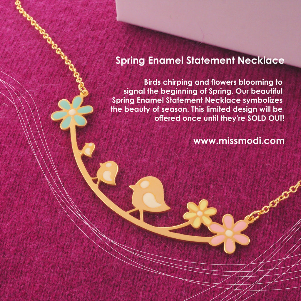 Spring Enamel Statement Necklace [Limited Edition]