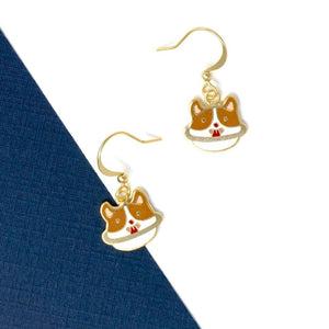Corgi Planet Enamel Drop Earrings | Miss Modi