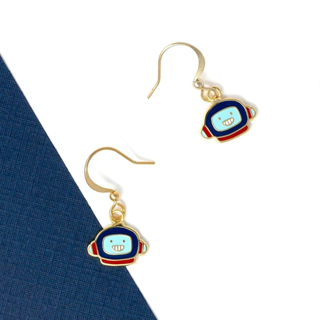 Miss Modi presents Little OH! Astronaut's Mission Enamel Drop Earrings