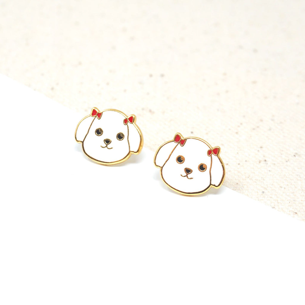Handcrafted Maltese Enamel Stud Earrings