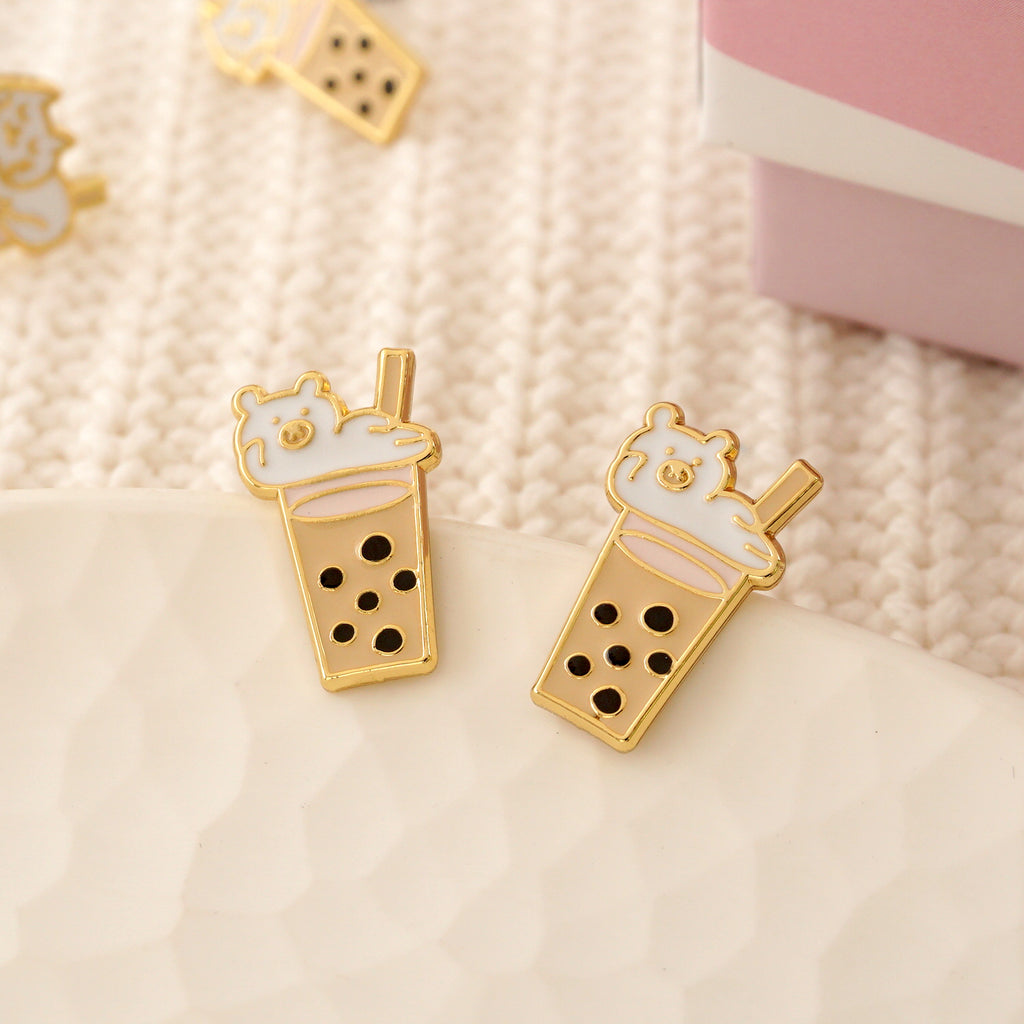 NEW! Boba Bear Enamel Earrings/ Bracelet/ Necklace