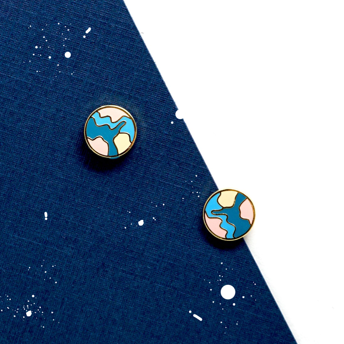 Handcrafted Color Globe Enamel Stud Earrings | Miss Modi