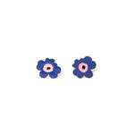 Miss Modi presents Handcrafted Blue Poppy Enamel Stud Earrings