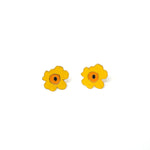 Miss Modi presents Handcrafted Yellow Poppy Enamel Stud Earrings