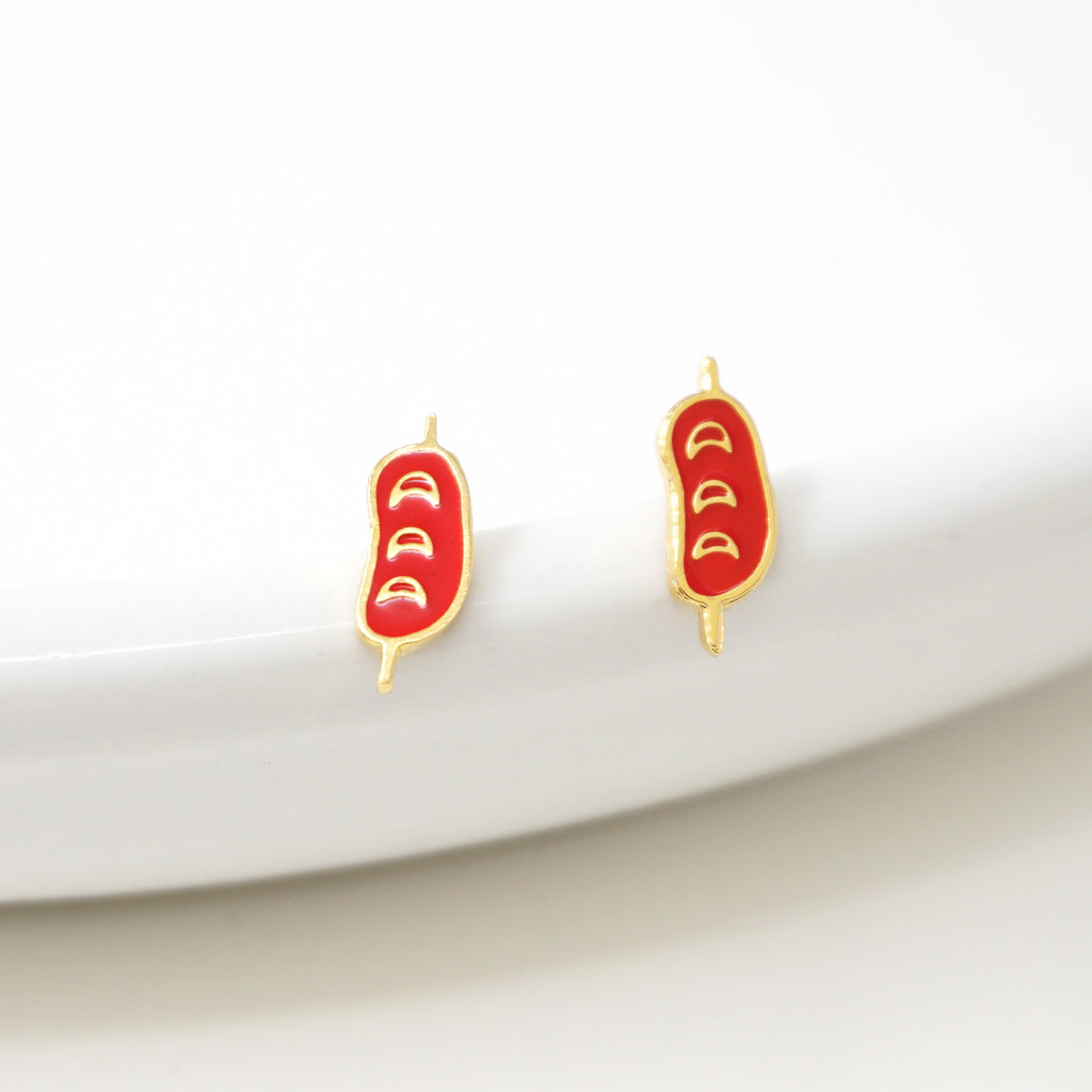 Taiwanese Sausage Enamel Earrings/ Bracelet/ Necklace