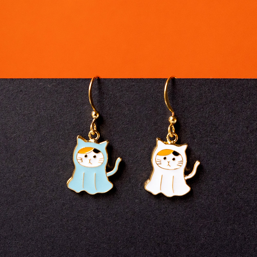 Ghost Cat Enamel Earrings/ Bracelet/ Necklace
